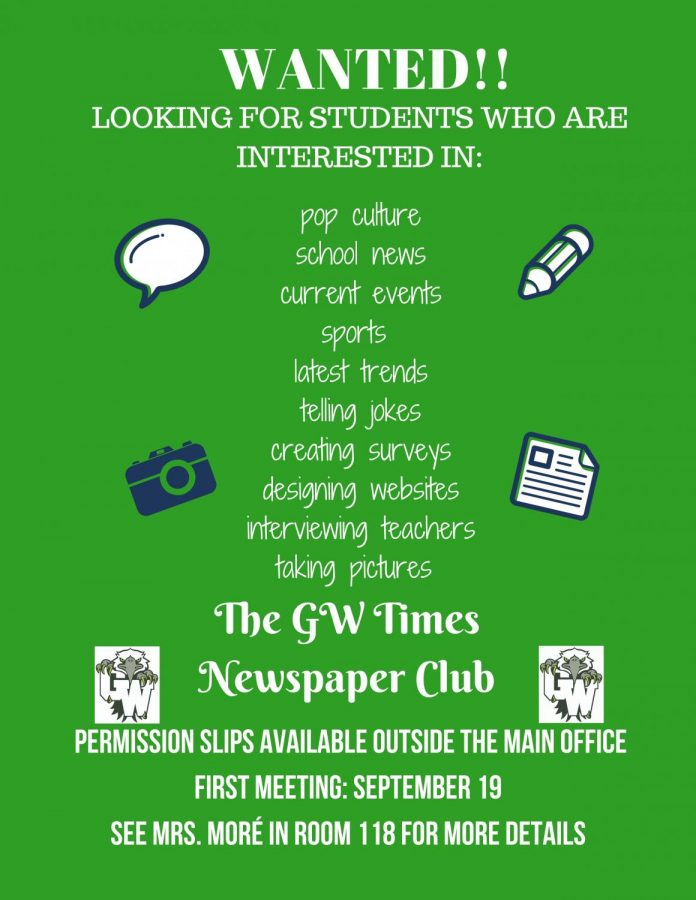 Join the GW Times this school year!!