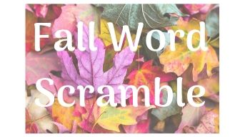 Fall Word Scramble