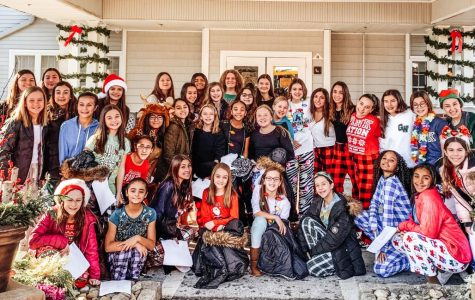 The Eaglettes Go Caroling